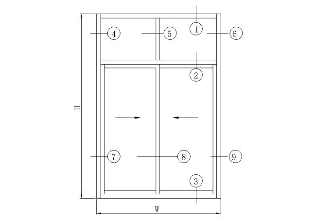 HX80推拉系列结构图