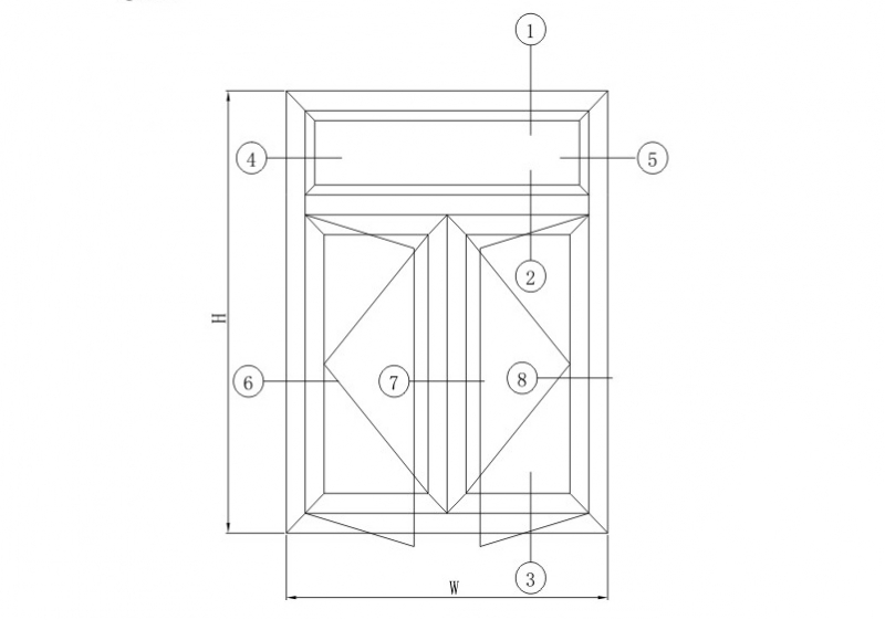 GB50隔热平开系列结构图