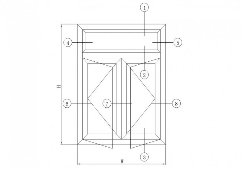 SH50隔热平开系列结构图