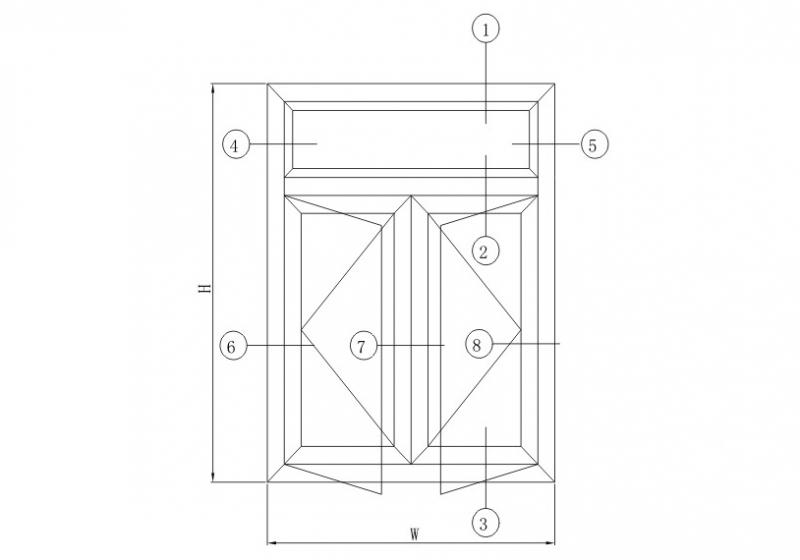 G55隔热平开系列结构图