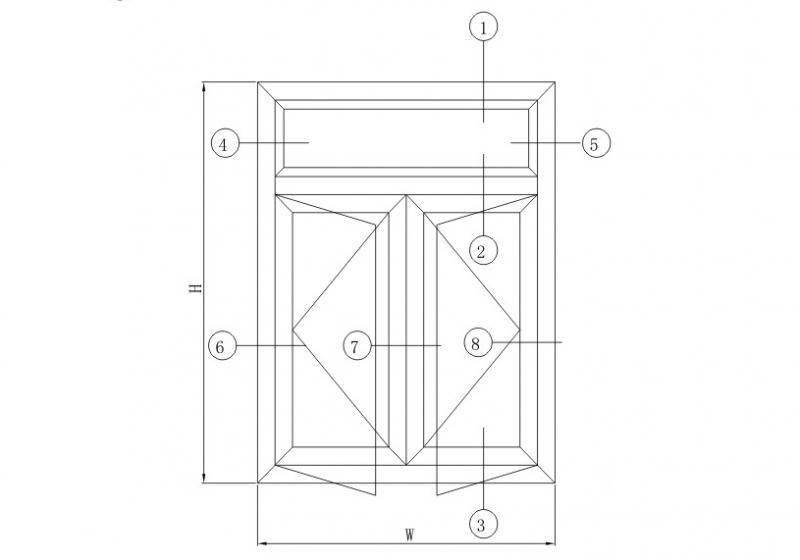 GR55隔热平开系列结构图