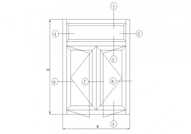 HY50注胶平开系列结构图