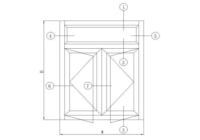 HY55注胶平开系列结构图