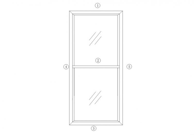 DM80平开门系列结构图